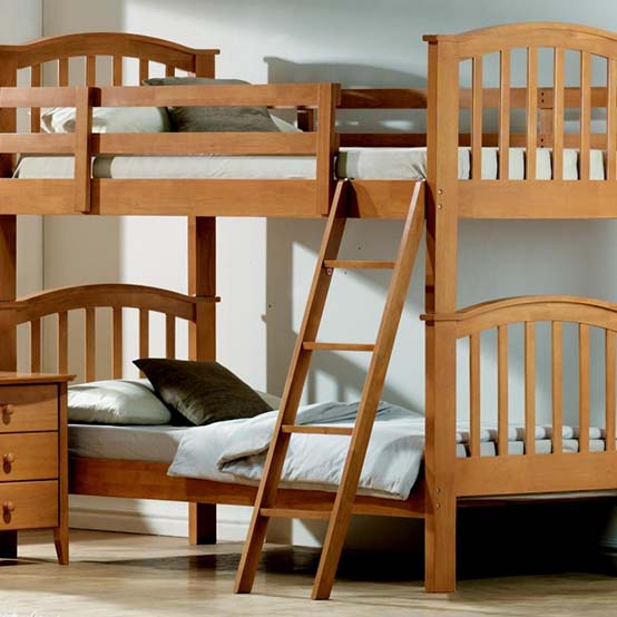 Wooden-double-bed